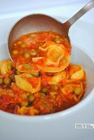 Tortellini en sopa. Receta