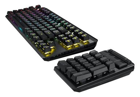 El ASUS ROG Claymore II es un teclado mecánico para gaming del 80% con truco: su teclado numérico es desmontable