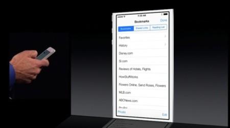 Safari iOS 7 marcadores
