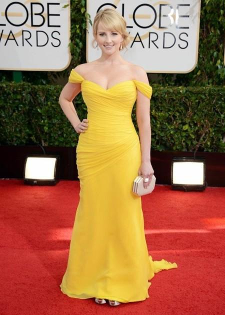 Melissa Rauch look globos de oro 2014