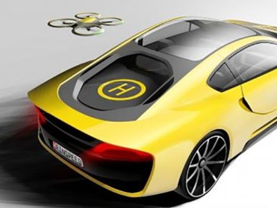 Rinspeed imagina un coche autónomo con un helipuerto para drones en la parte trasera
