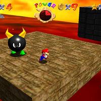 Super Mario 64: cómo conseguir la estrella Boil the Big Bully de Lethal Lava Land