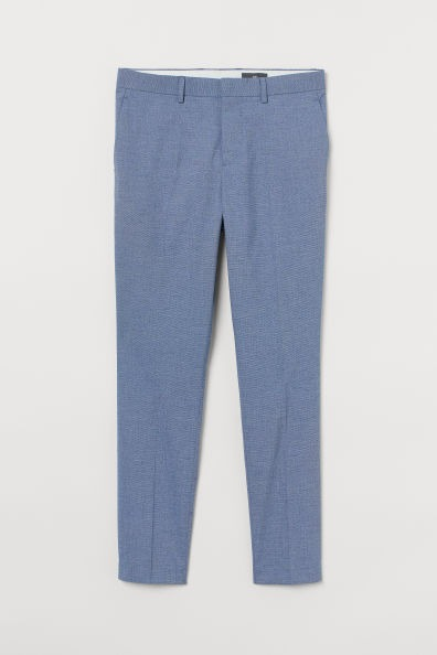 Pantalón formal de corte skinny color azul claro