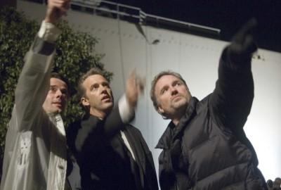 David Fincher (a la derecha)