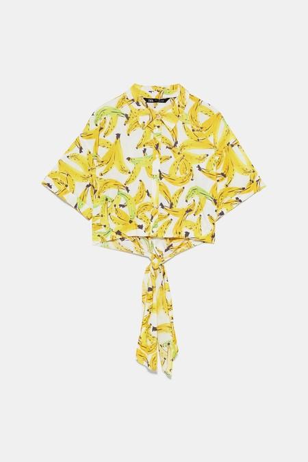 camisa tropiclal zara