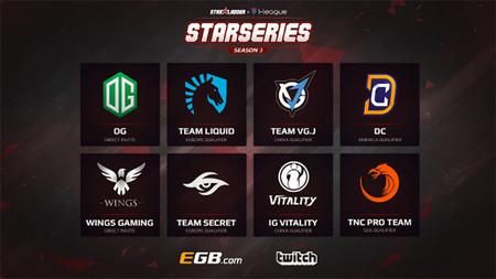 Estos son los 8 equipos que lucharán por los 300.000 dólares en premios de la Starladder i-League
