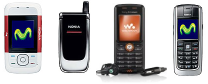 Los móviles más vendidos por Movistar, Vodafone y Orange