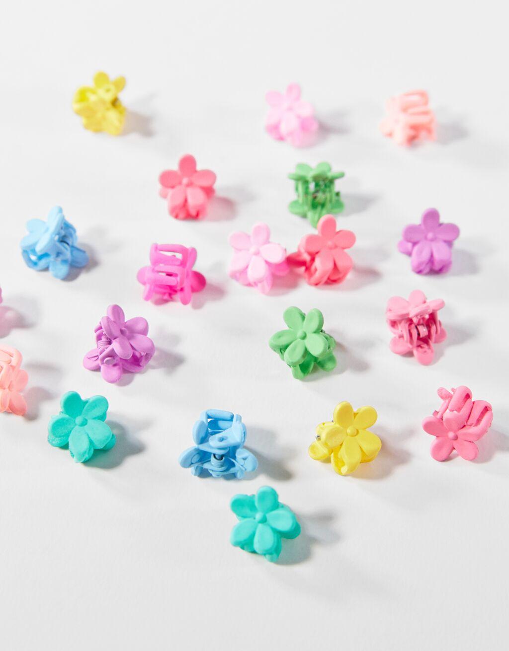 Pack de 20 minipinzas multicolor.