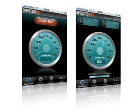Speedtest.net, mide la velocidad de conexión a Internet en un iPhone/Touch