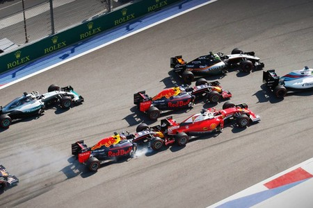 Kvyat Vettel Rusia F1 2016