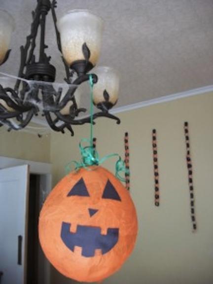 globo calabaza halloween