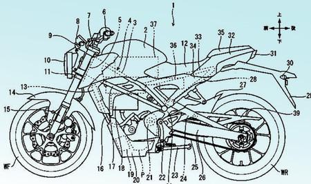 Las patentes que demuestran que la Honda CB125R eléctrica podría llegar como una nueva opción neo-retro