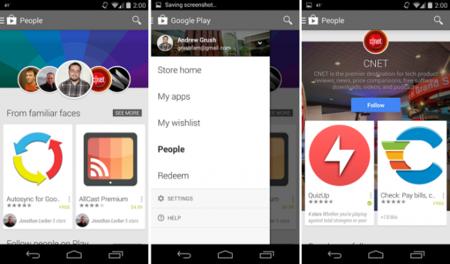 Personas, la nueva sección de Google Play Store