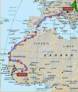 La ruta de 2008