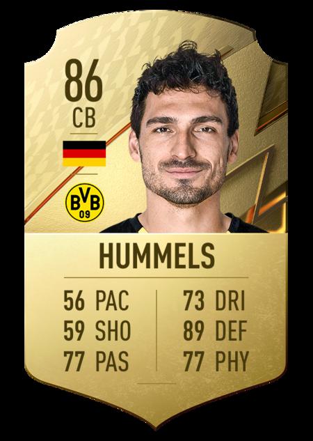 Hummels FIFA 22 mejores jugadores bundesliga