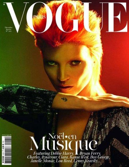 Kate Moss es David Bowie en Vogue París