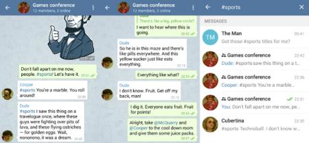 Respuestas, menciones y hashtags, Telegram sigue sin prisa pero sin pausa