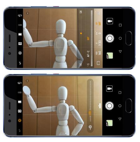 Huawei P10 Plus, interfaz de cámara