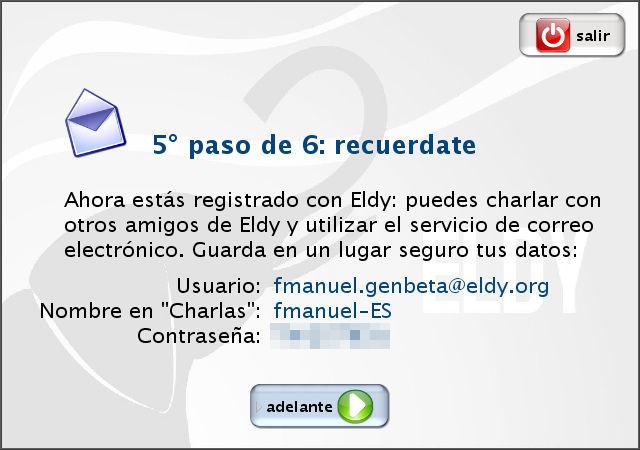 Eldy, datos del registro