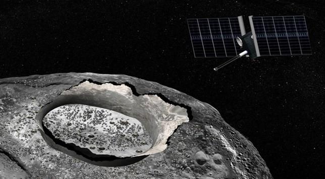 ¿Se ha encontrado agua en un gigantesco asteroide metálico?