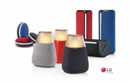 LG prepara nueva gama de coloridos altavoces Bluetooth para otoño