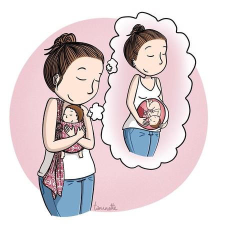 17 preciosas ilustraciones que transmiten la calidez del porteo y la lactancia materna