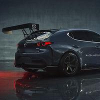 Así de bestial es el Mazda3 TCR: 355 CV para un coche de carreras con una carrocería que mete miedo