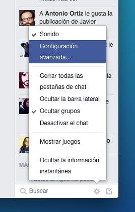 Facebook Configuracion Avanzada