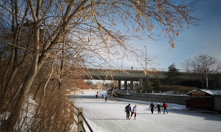 Skating On The Rideau Canal In Ottawa