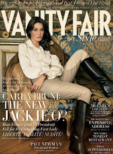 Carla Bruni elegante para Vainity Fair