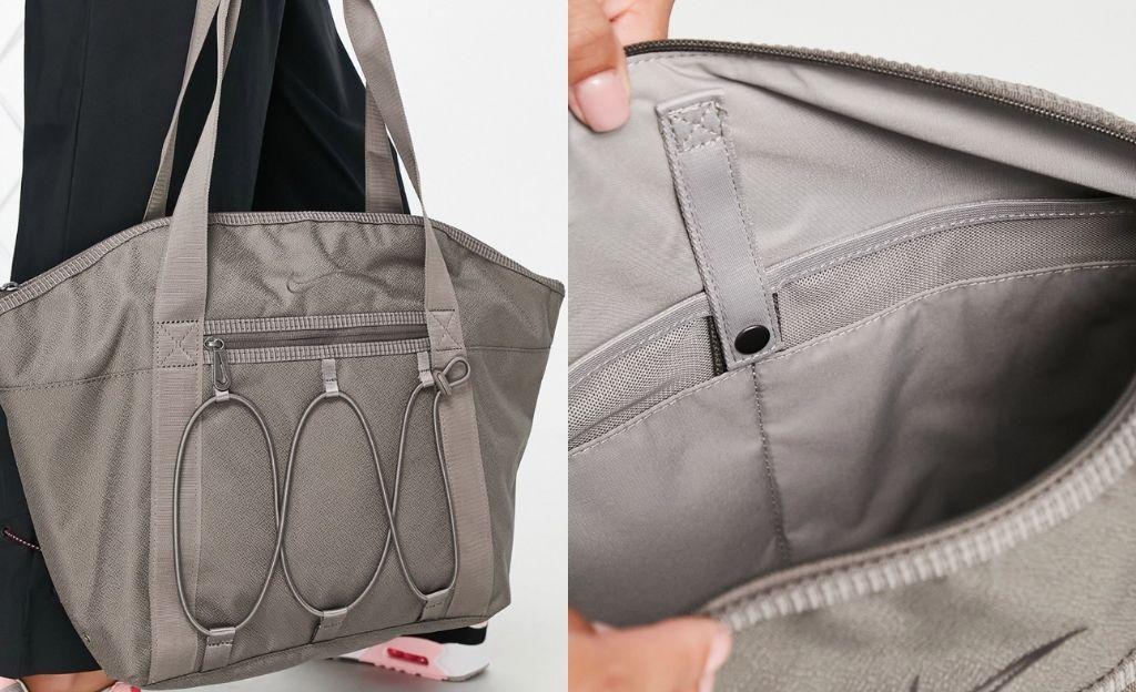 Bolso shopper gris estilo tote de Nike