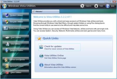 Windows Vista Utilities: accede a todas las opciones de Vista rápidamente