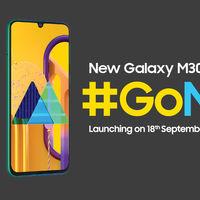El Samsung Galaxy M30s con batería de 6.000 mAh se presentará el 18 de septiembre