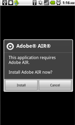 Android recibe Adobe Air