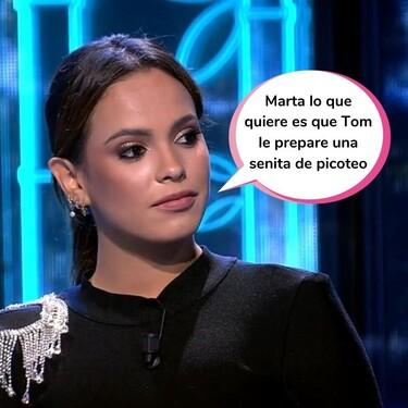 """Gloria Camila cree saber cuáles son las verdaderas intenciones de Marta López con Tom Brusse: """"Más que amistad es atracción"""""""
