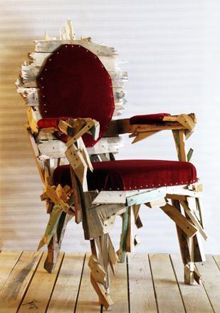 La silla Roccoco, una silla grunge
