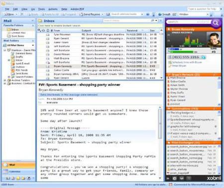 Maximizando Microsoft Outlook  con Xobni