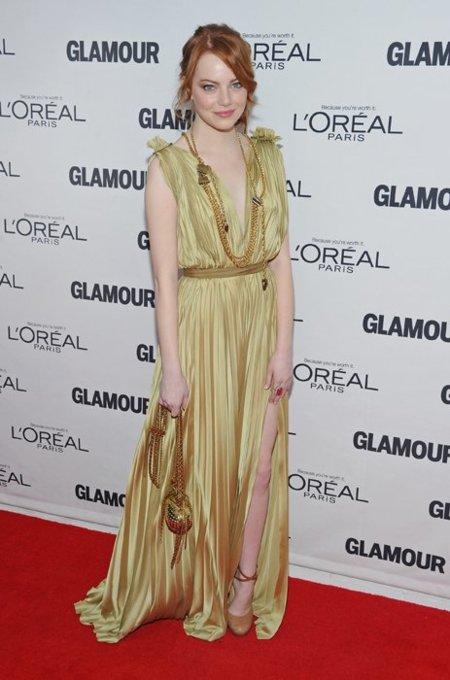 Emma Stone dorado