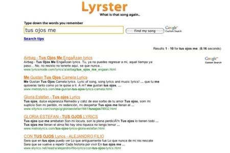 Lyrster, recuerda la canción o el artista de tus canciones favoritas