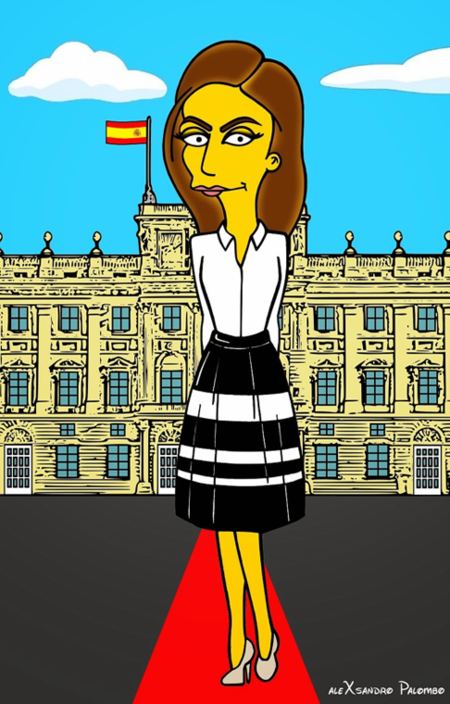 La reina Letizia, y Felipe Varela, caracterizados por Alexsandro Palombo