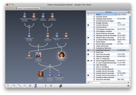 Macfamilytree, crea tu propio árbol genealógico