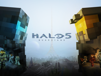 La batalla entre el Jefe Maestro y el Spartan Locke se va a Minecraft con este paquete de texturas de Halo 5: Guardians