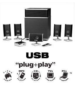 Altec Lansing FX5051, 5.1. por USB