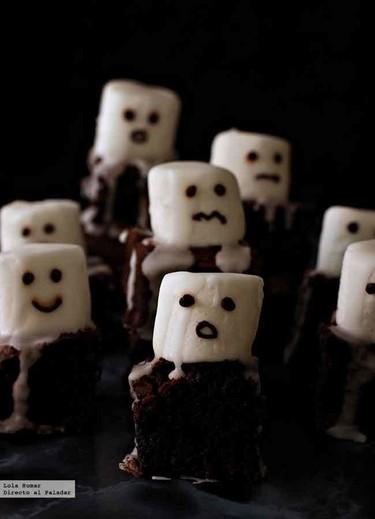 Brownies fantasmales. Receta de Halloween