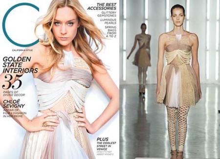 Chloé Sevigny en la portada de la revista California Style