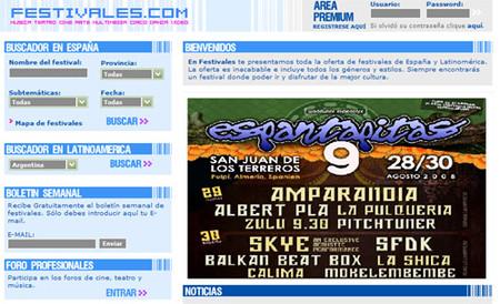 Festivales.com, todo sobre festivales en España y Latinoamérica
