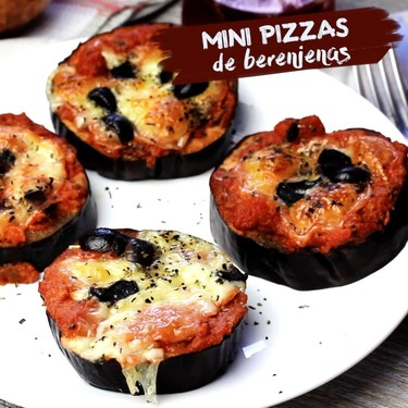 Mini pizzas de berenjenas. Receta en video