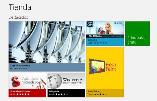 Windows 8 RTM Tienda