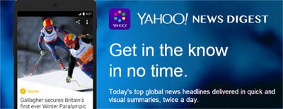 Yahoo! News Digest ya está disponible para darnos las noticias en nuestro Android