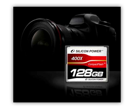 Silicon Power anuncia la primera Compact Flash de 128GB y 400X